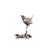 miniature bronze wren garden bird gift sculpture butler and peach