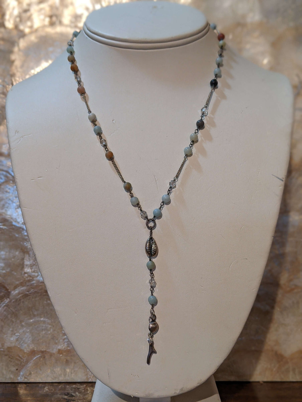 Oceanic Semi Precious Stone Y Necklace