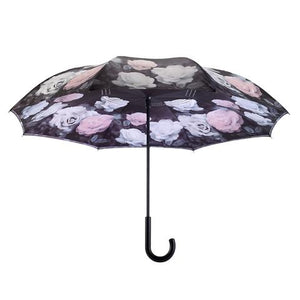 Vintage Roses Stick Umbrella