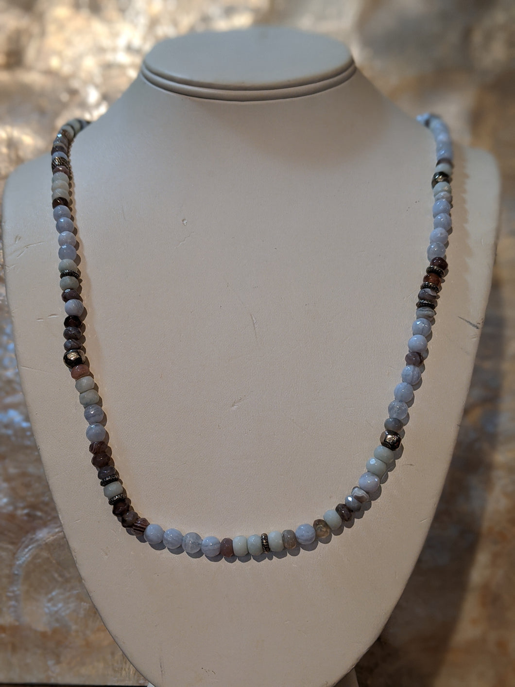 Semi Precious Long Stone Necklace 32