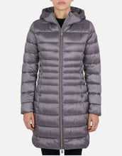 Load image into Gallery viewer, Iris Quilted Long Hooded Coat