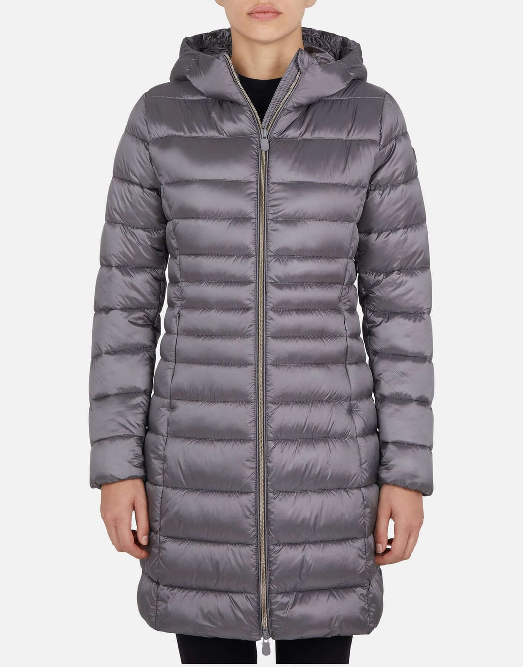 Iris Quilted Long Hooded Coat