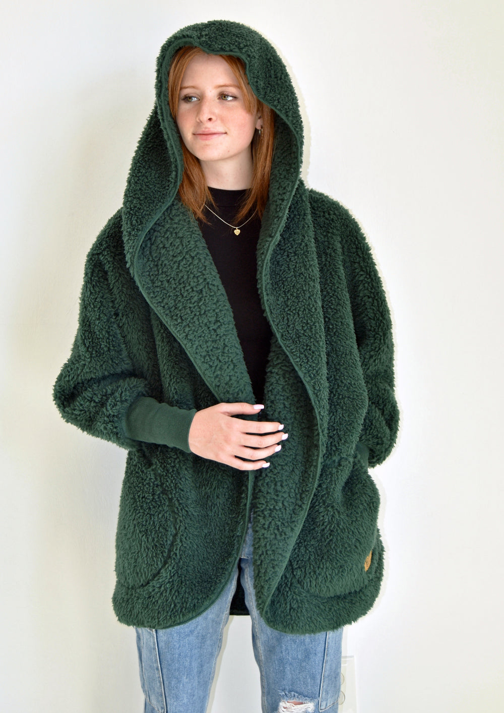 Fluffy Sweater Body Wrap - Emerald Forest