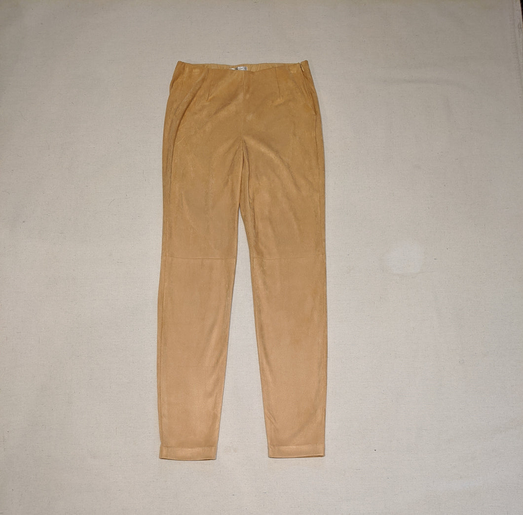 Faux Suede Side Zip Pant