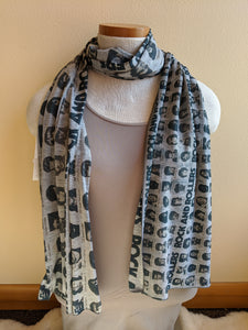 Double Sided Rock n Roll Scarf