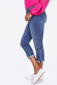 "Chloe Capri Jeans With 1"" Cuff"