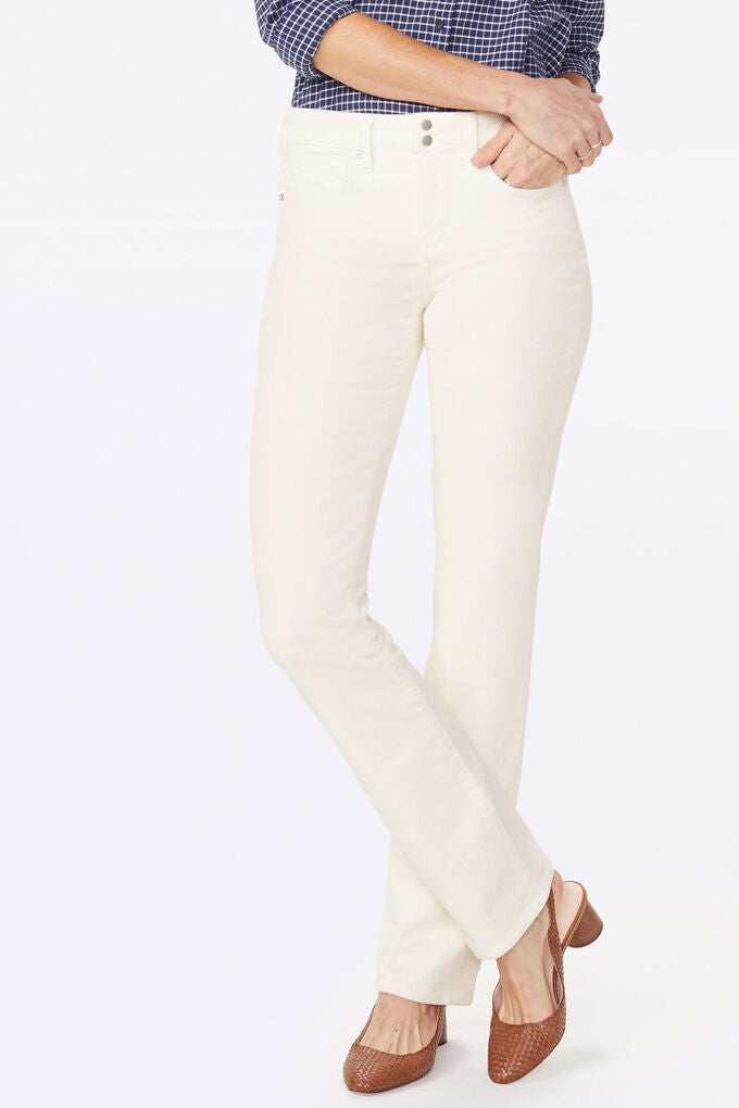 Marilyn Straight Jeans In Corduroy With Double Button Waistband