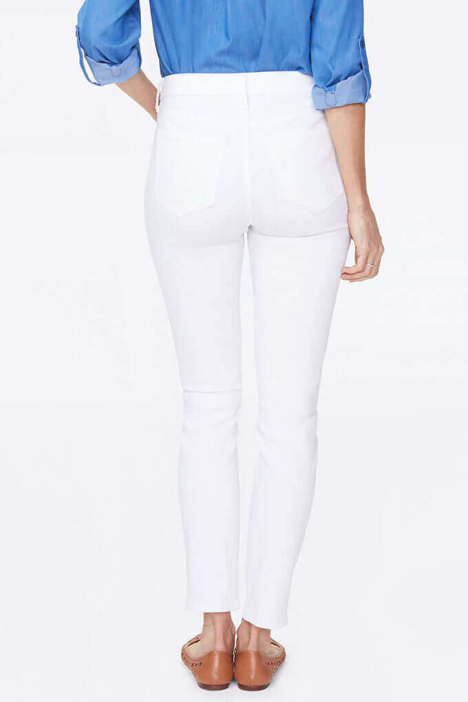 "Alina Skinny Ankle Jeans With 1"" Side Slits"