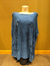 Load image into Gallery viewer, Cut Out Poncho - Denim