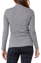 Load image into Gallery viewer, Mock Neck Long Sleeve Rib Knit Tee