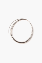 Load image into Gallery viewer, Silver Petite Oblong Hoop Earrings