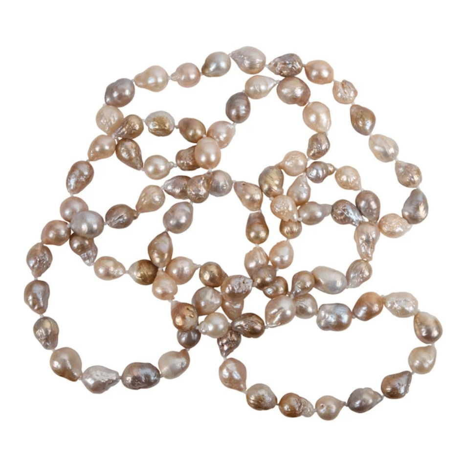 Petite Wild Pearl Rope Necklace 44