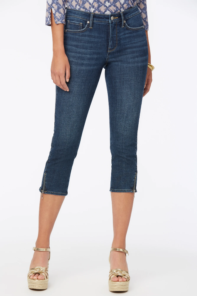 Chloe Capri Jeans  With Side Zippers