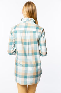Helmsley Plaid Button Up Blouse
