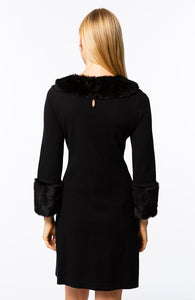 Fur Trimmed Chelsea Dress