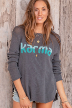 Load image into Gallery viewer, Karma Crew Knit Sweater