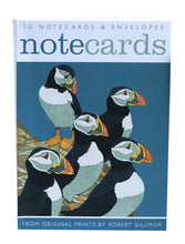 Load image into Gallery viewer, Robert Gillmore Puffins / Whooper Swan - Notecard Wallet