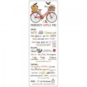 Red Bike Apple Pie Recipe Towel