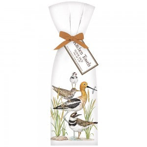 Stacked Shorebirds Towel