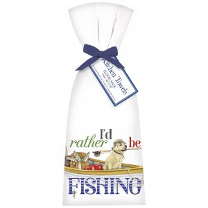 Rather Be Fishing Bagged Towel