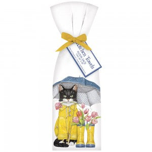 Cat Tulip Boots Bagged Towel