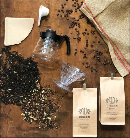 Dineen Gift Basket - Coffee and Tea + Hario V60