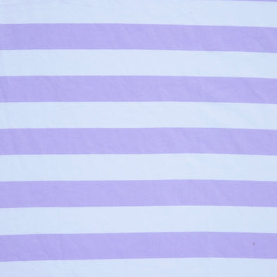 Wide Stripe Lilac - Organic Cotton Jersey - TATB