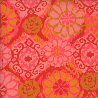 Ikat Pink - Cotton Print