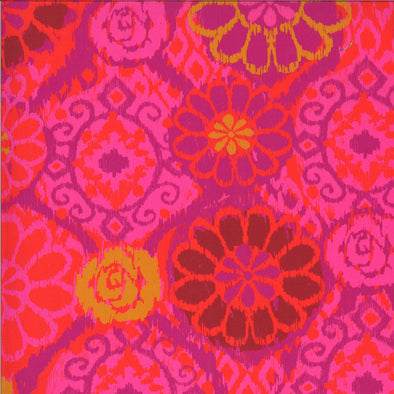 Ikat Berry - Cotton Print