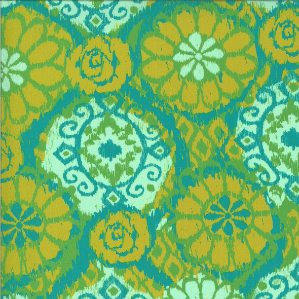 Ikat Green - Cotton Print