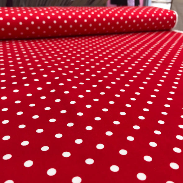 Polka Dot - Cotton Stretch Sateen