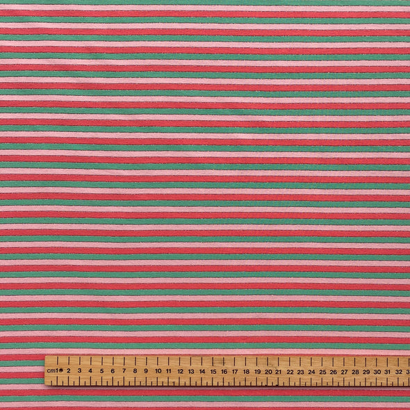 Watermelon Stripe - Cotton Jersey