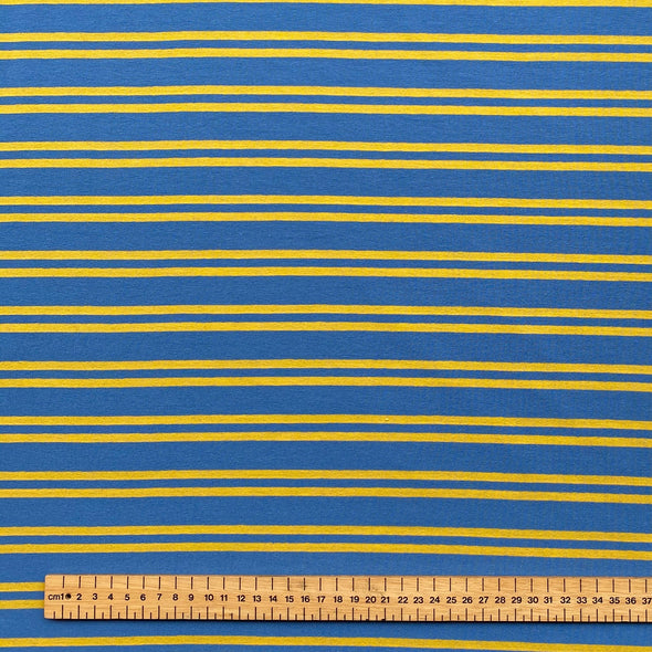 Mustard Stripe - Cotton Jersey