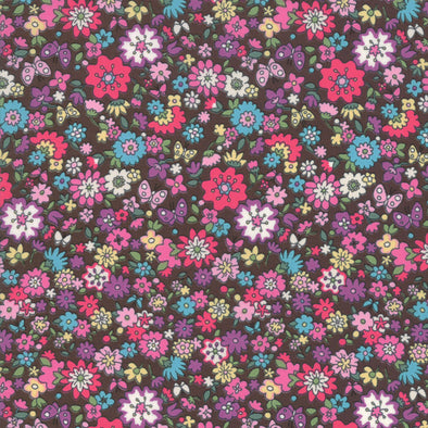 Regent Street Cotton Lawn by Moda - Chocolate