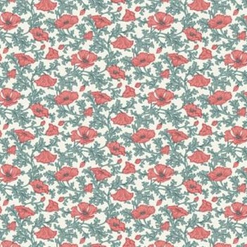 Liberty Nina Poppy - Cotton Print