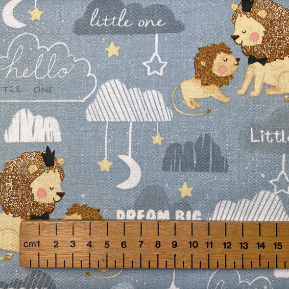 """Little Lion Be Brave"" - Cotton Print"