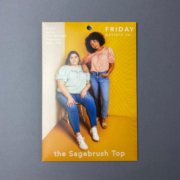 """The Sagebrush Top"" by Friday Pattern Co."