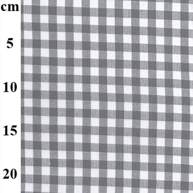 "Yarn Dyed Cotton Gingham - Grey 1/3"" Check"