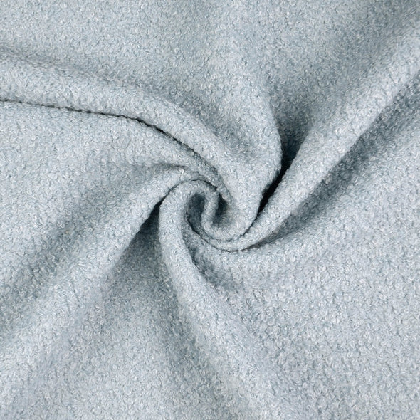 Duck Egg Blue Wool Blend Boucle Coat Fabric