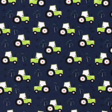 Tractors Cotton Jersey