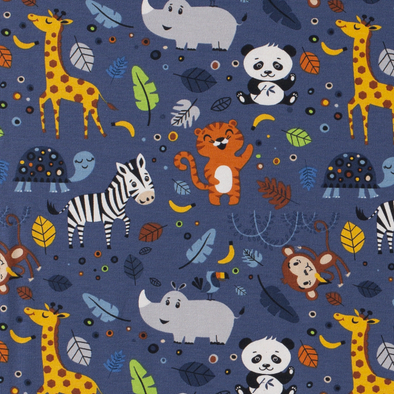 Zoo Animals Cotton Jersey