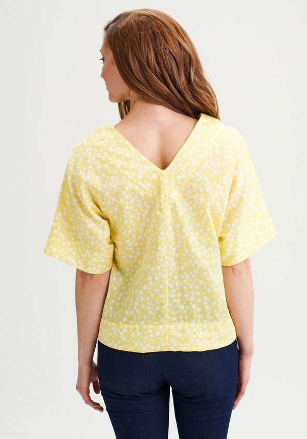 CARAMBOLE - Yellow short-sleeved blouse