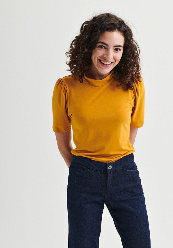 JANE - Yellow short sleeve top