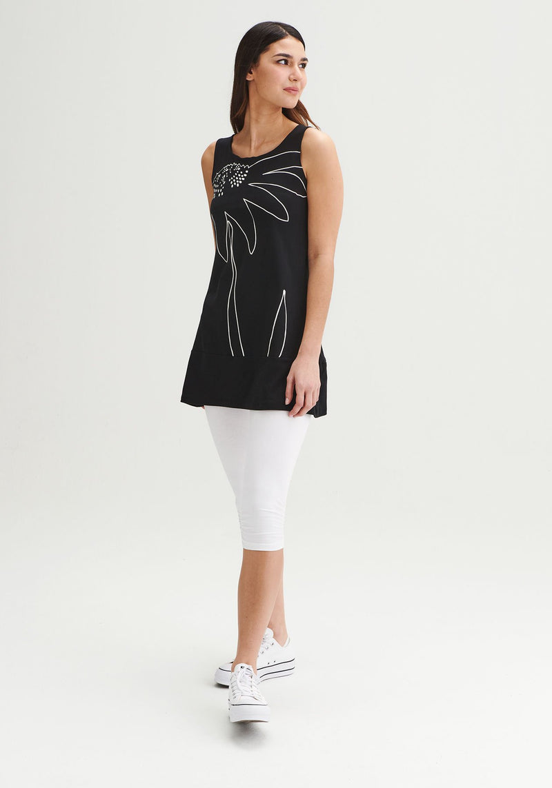 FOUGERE - Orchid black tunic