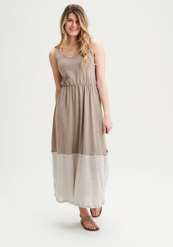 GABRIELLE - Beige long dress