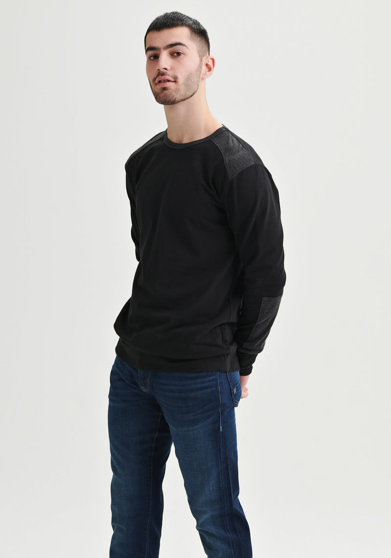 Men black sweater