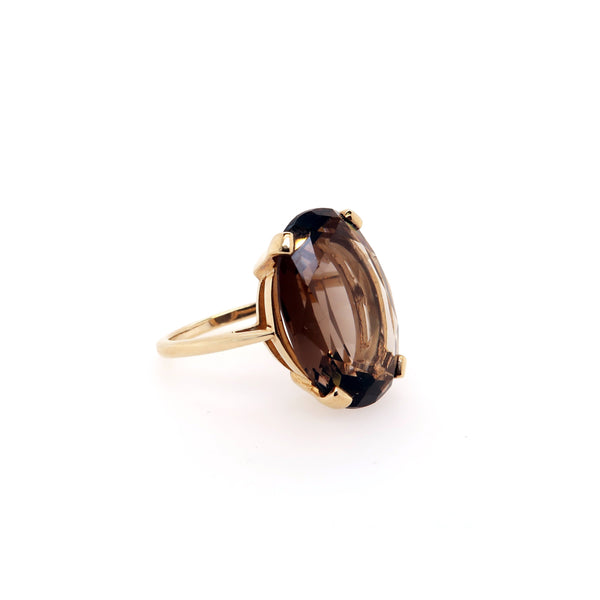 Smokey Quartz Gold Ring