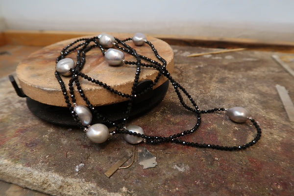 Freshwater Pearl and Bead Necklet