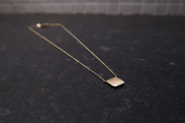 Brushed Gold Pendant