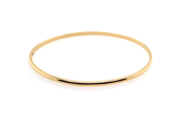 Gold D Shape Bangle (2.8mm)